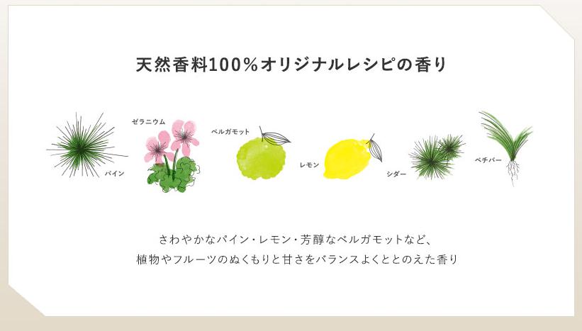 草花木果大人のニキビラインで使用されているオリジナルレシピの香り